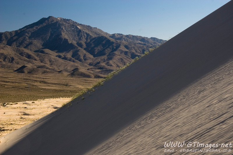"""These dunes are some of the few that """"boom."""" They make a low moaning noise that is the result of the friction of the moving sand. They were booming when I took this photo. Awesome....."""