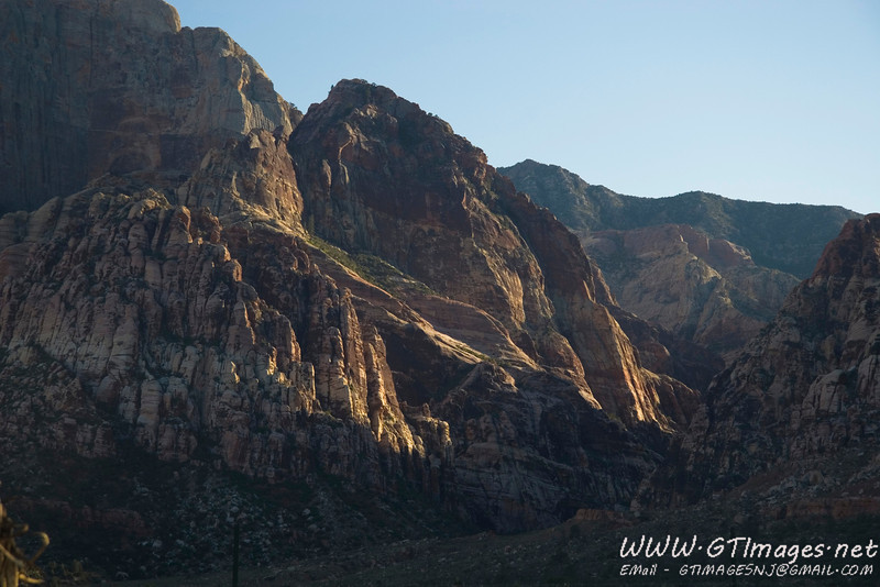 Red Rock Canyon - My low gas warning was flashing when I got this shot....