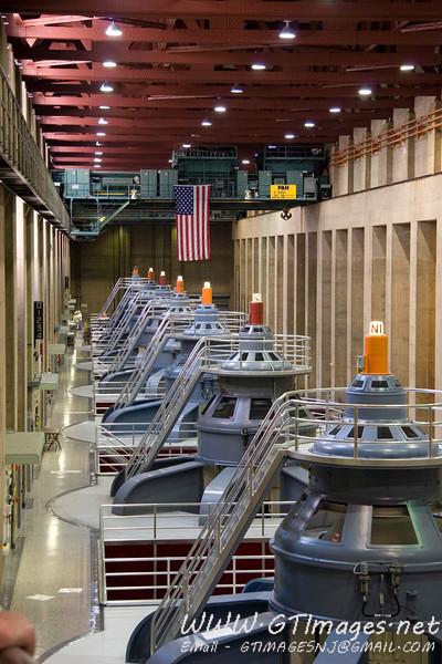 Turbines/alternators for the Hoover Dam.