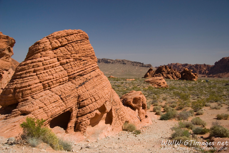 "Beehives at the ""Valley of Fire."" These are remains of sand dunes that turned to sandstone, then carved by wind."