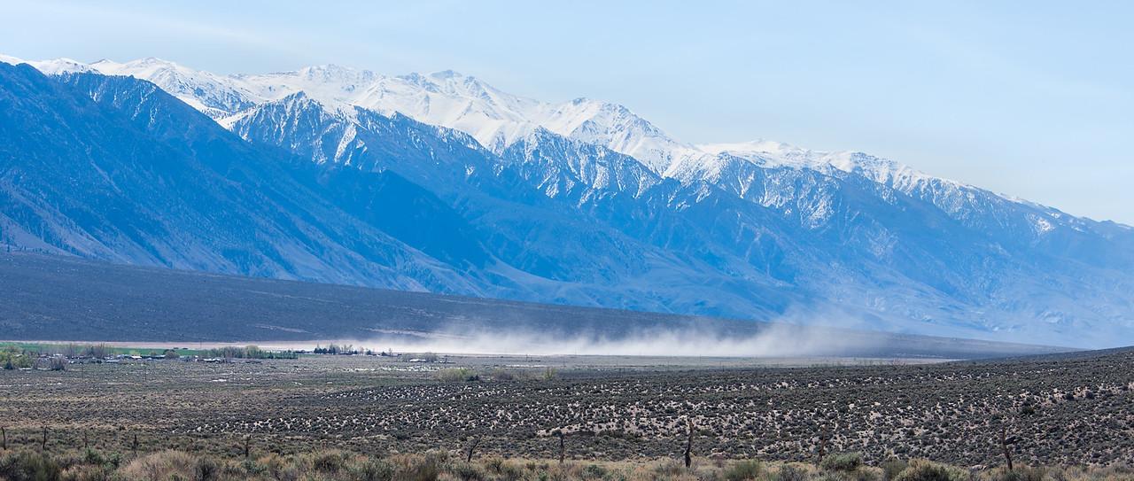 Dust Storm over Benton Hot Springs, Nevada - April 2016