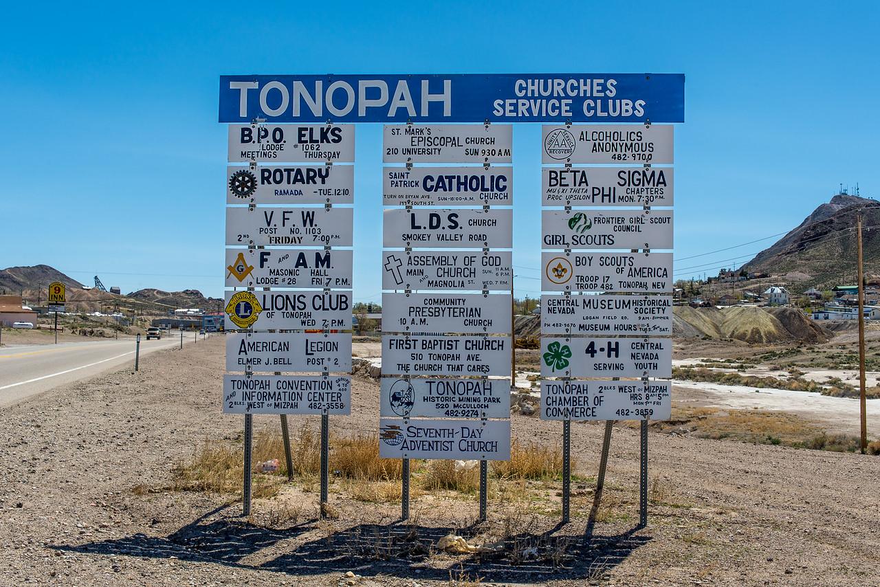 Tonopah, Nevada - April 2016