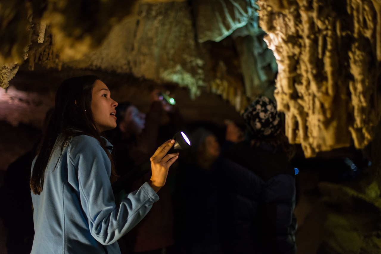 Lehman Caves Tour Guide in Great Basin National Park, Nevada - April 2016