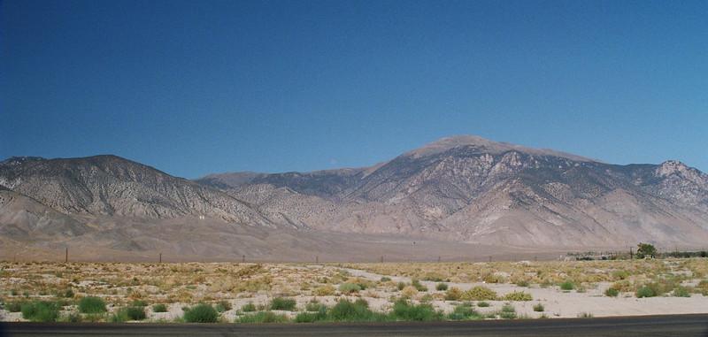 Desert on west side of Hawthorne, NV, looking west