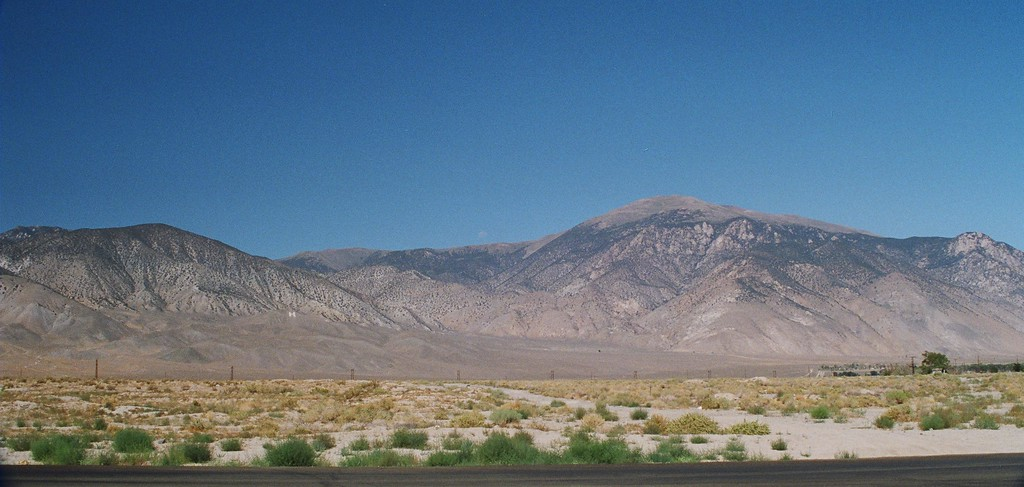 Desert on west side of Hawthorne, NV, looking west