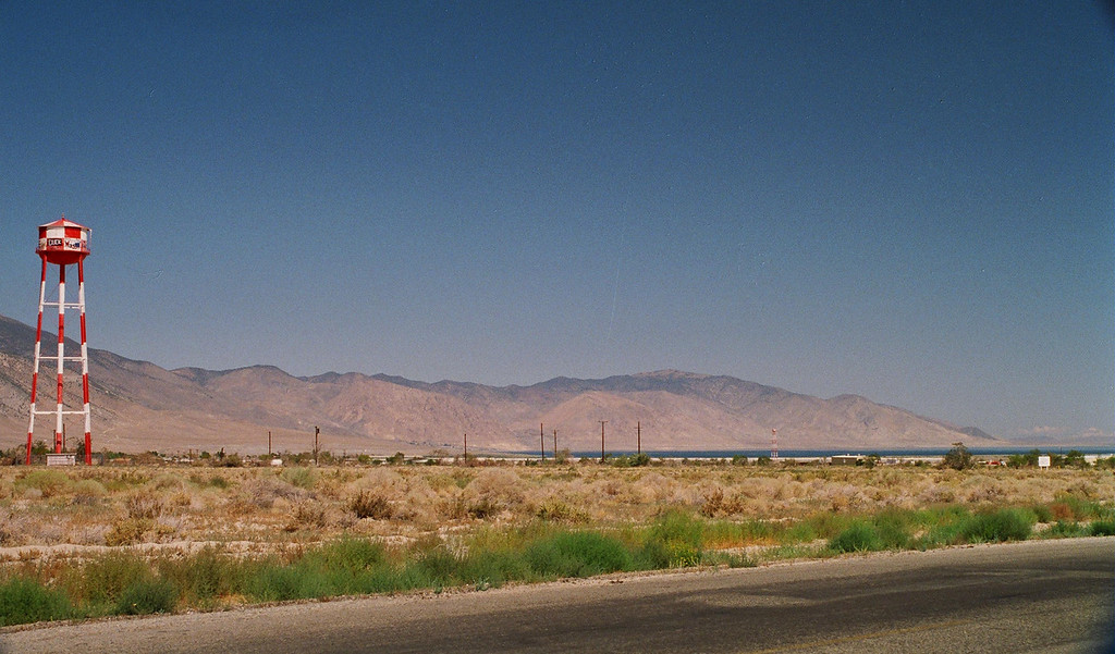 Looking from edge of Hawthorne toward Walker Lake and area where Babbitt, NV was formerly located.