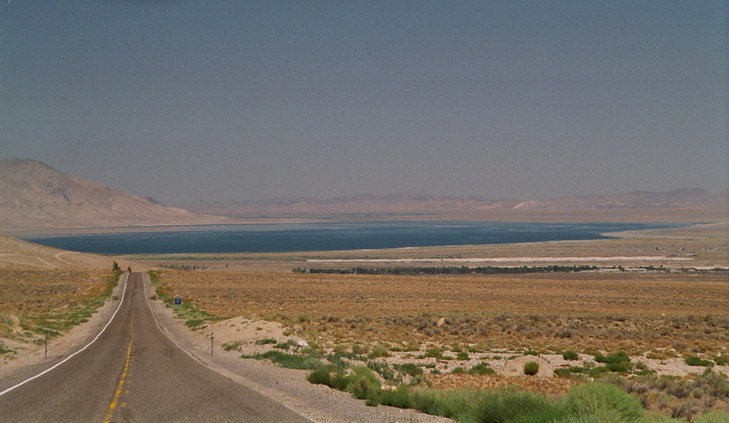 Walker Lake<br /> Hawthorne, Nevada in foreground at right