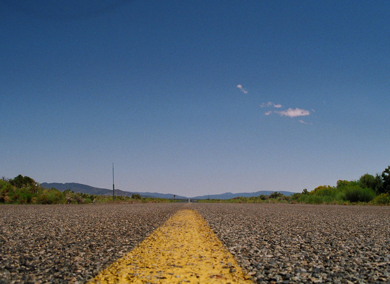 Hwy 359 at Nev-Cal state line -- looking east into Nevada