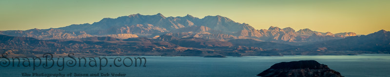 Morning light over Lake Meade