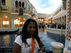 Umah poses by the canals in the Venetian.