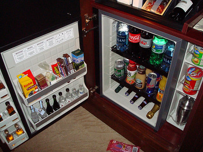 Fridge and minibar