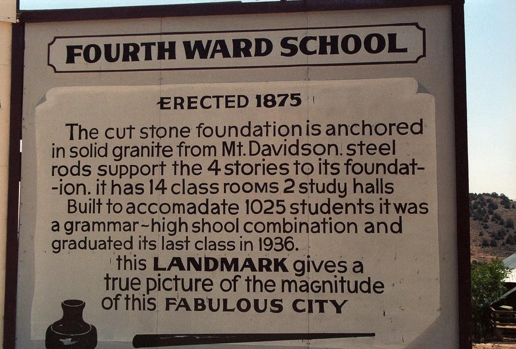 4th Ward School<br /> Virginia City, NV