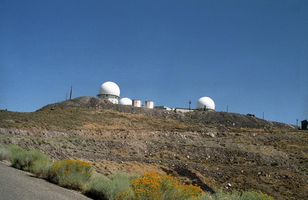 Remnants of radar site for 866th Radar Sqdn (NORAD)<br /> Near Tonopah, NV