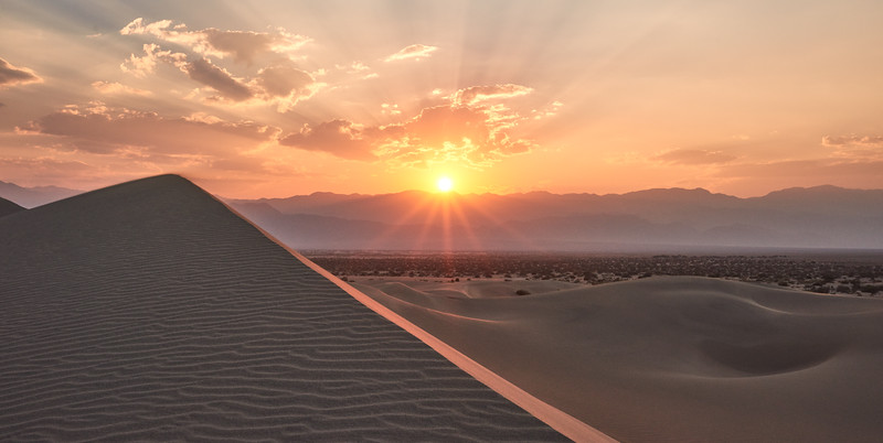 Mesquite Sand Dunes Sunset - Death Valley National Park