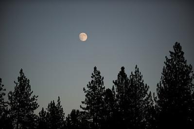 Moon over Graeagle, CA