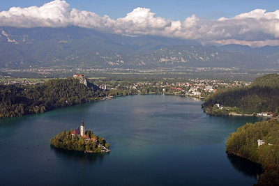 Last light on Lake Bled