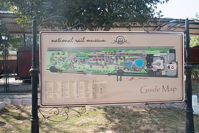The National Rail Museum Guide Map at Chanakyapuri, New Delhi which focuses on the rail heritage of India. Outdoor and indoor exhibit of the 163 years of rich Indian Railway's historic heritage. Rare steam, diesel and electric locos, royal saloons and lots of artifacts can be seen.