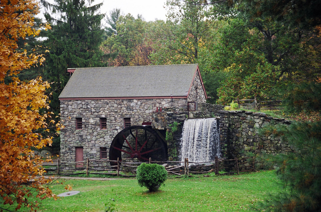 Grist Mill at Longfellow Wayside Inn - Sudbury, MA<br /> Built in 1929 by renowned hydraulic engineer J.B. Campbell, the Wayside Inn Grist Mill produces approximately 5 tons of flour per year. The Grist Mill was used by Pepperidge Farm as a full-time production facility from 1952-1967 and is the basis for their company logo.