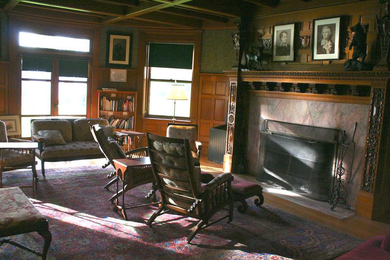 The sitting room inside the Inn.