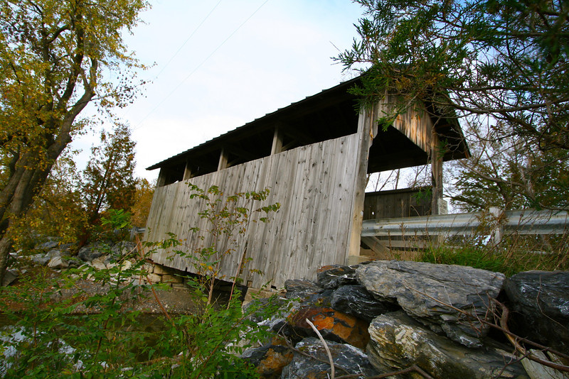 One of the covered bridges that wasn't destroyed by Hurricane Irene.