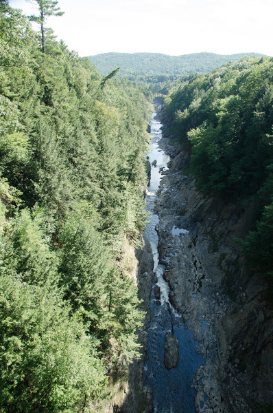Quechee Gorge, 165 feet deep.