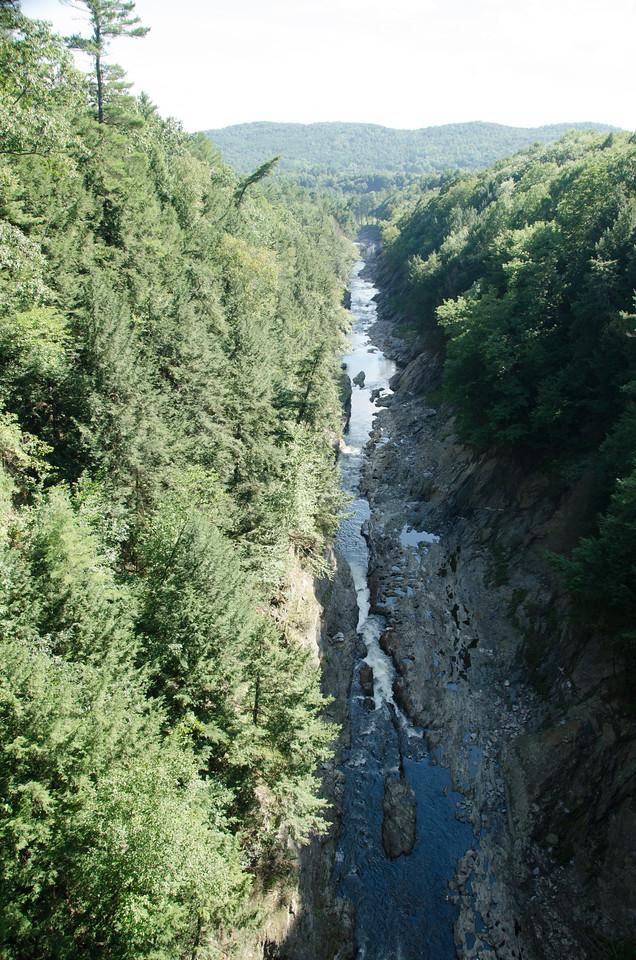 Quechee Gorge, 165 feet deep.