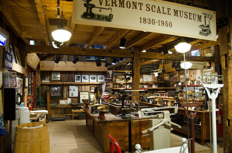 Inside the store they have a very interesting scale museum.
