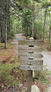Trail to Bubble Rocks. Acadia National Park.
