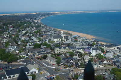 Provincetown, MA from atop the Pilgrims Monument