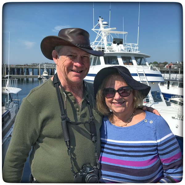 Dave & Lynn getting ready for a Whale Watch in Provincetown, MA