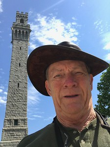 Dave in front of the Pilgrims Monument.