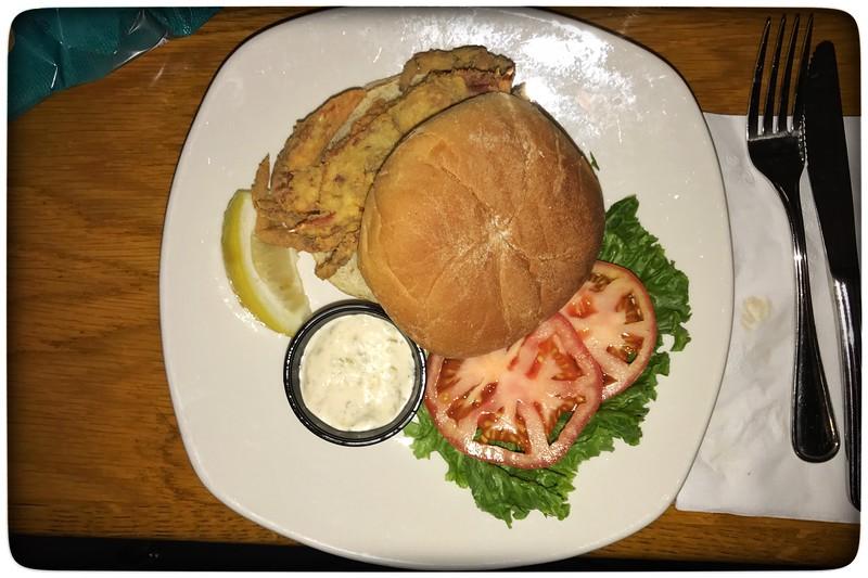 Soft Shell Crab Sandwich...Oh so good!