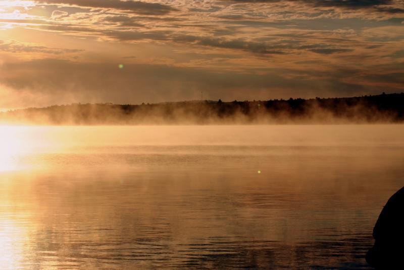 Sunshine and morning fog