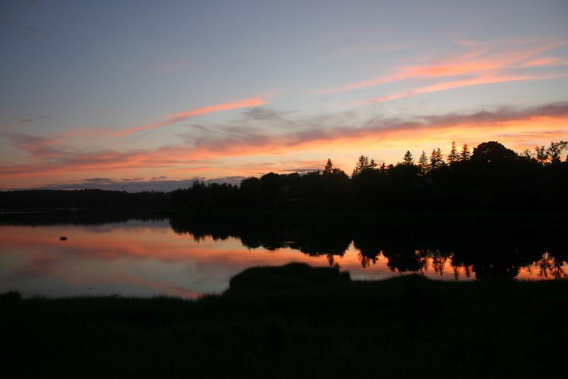 Sunset over Salt Cove