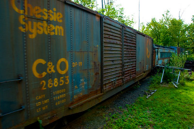Rusty old boxcar