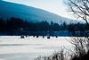Ice Fishing Huts near Newfane, Vermont<br /> February 2009
