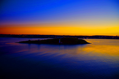 Sunrise over Halifax, Nova Scotia.