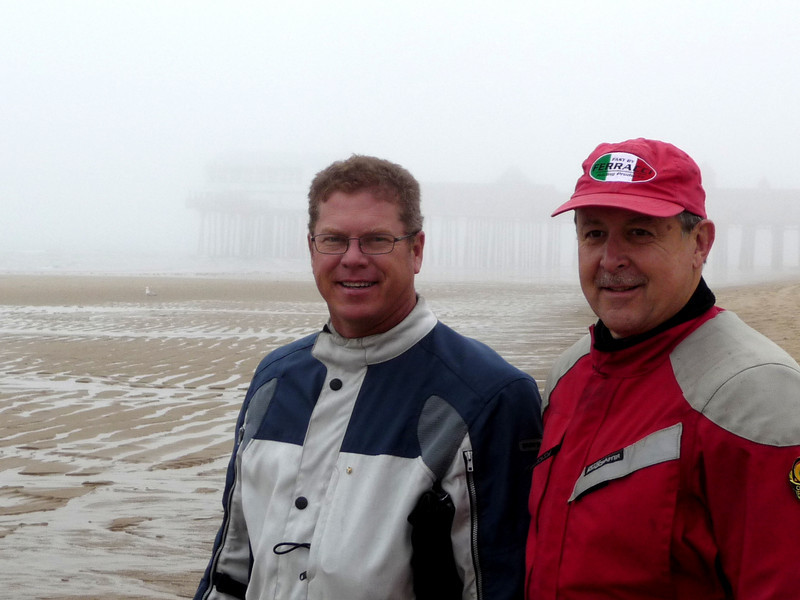 Craig and Tom at Old Orchard beach at low tide.
