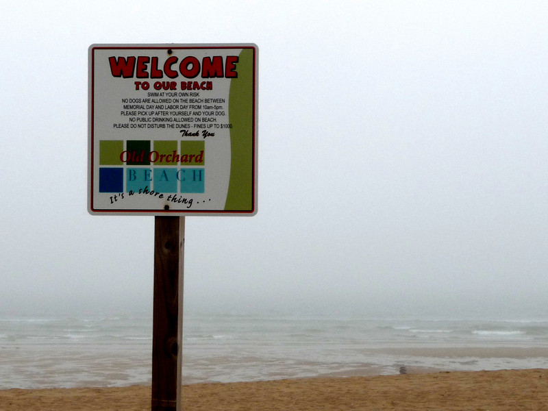 Old Orchard beach in Portland. Fog set in and we could barely see the water. And it rained much of Thursday. Which is ok, because with the rain came traffic and we stayed lost much of the day. But that is a part of what can happen