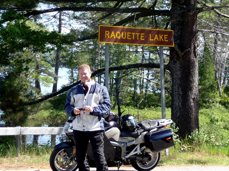 Craig, smiling as he ponders the pronounciation of Raquette Lake