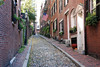 I think this is Acorn Street on Beacon Hill, a street narrow enough where you can get a good shot with both sides.