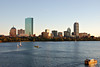 Boston skyline on a clear autumn afternoon