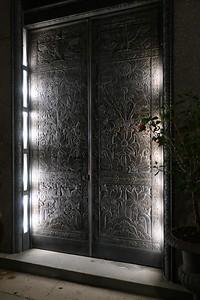 Fancy Door. Across from. the Hotel