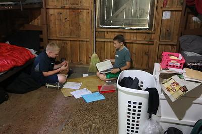 Daniel teaching his Cabin mate DnD