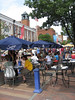 "Outdoor seating at many restaurants, a pedestrian-friendly streetscape and good mix of businesses help attract crowds to Burlington, Vt.'s ""downtown that works"""