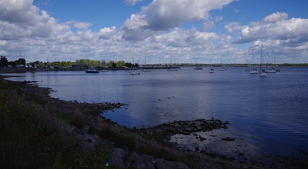 Crossing Lake Champlain at Alburg