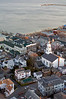 A view of Provincetown, Massachusetts, from the base of the Pilgrim Monument