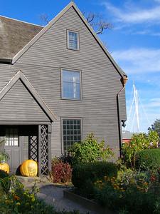 House of Seven Gables, Salem, Massachusetts. Harbor in distance.
