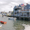 Shingled homes on the water, Nantucket, Massachusetts, United States