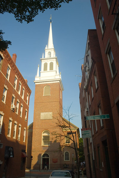 Old North Church Before sunset <br /> Boston <br /> © WEOttinger, The Wildflower Hunter - All rights reserved<br /> For educational use only - this image, or derivative works, can not be used, published, distributed or sold without written permission of the owner.